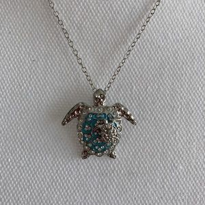 New Mom and baby Turtle necklace